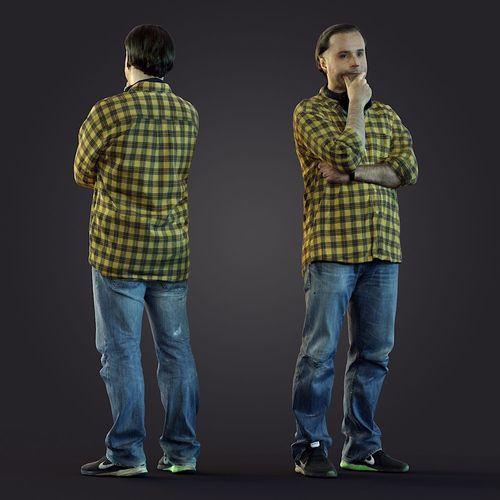 3d scan man 10 3d model max obj mtl fbx 1