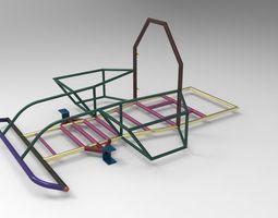 Go-Kart Chassis 3D Model