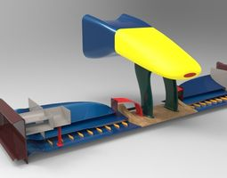 f1 front wing 3d model