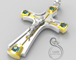 russiajesus Russian Cross with Jesus 3D print model