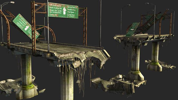 bridge 3d model obj mtl fbx ma mb 1