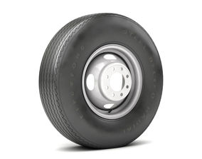 3D model game-ready VINTAGE WHEEL AND TIRE 10