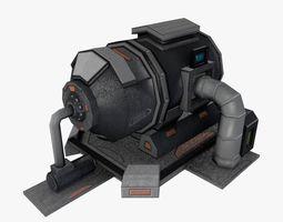 3D asset Sci-fi Low-poly Storage Fuel Tank