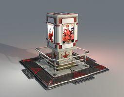 3D model Communist Propagandist Billboard - Low Poly