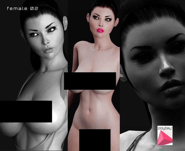 female 02 3d model low-poly rigged fbx ma mb ztl tga uasset mel 1