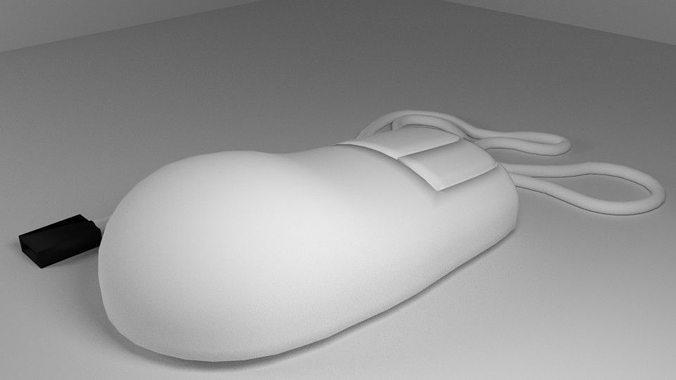 computer mouse 3d model obj mtl 3ds lwo lw lws blend dae 1
