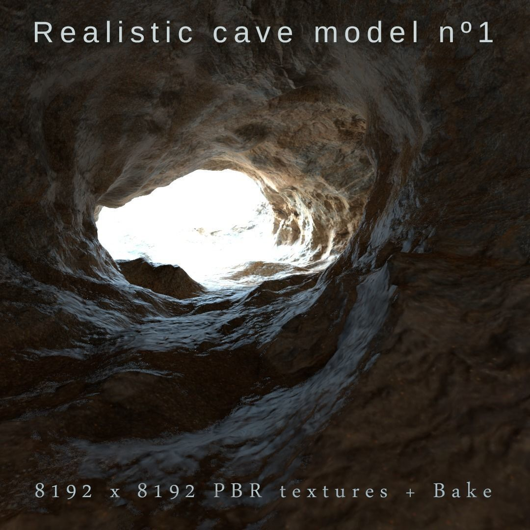 Realistic cave  model 1