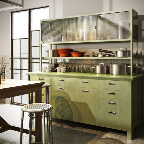 3D model Scavolini diesel social kitchen type 001