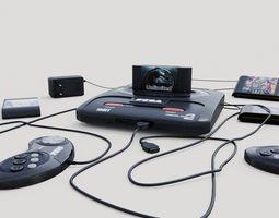 Sega Mega Drive 2 3D model