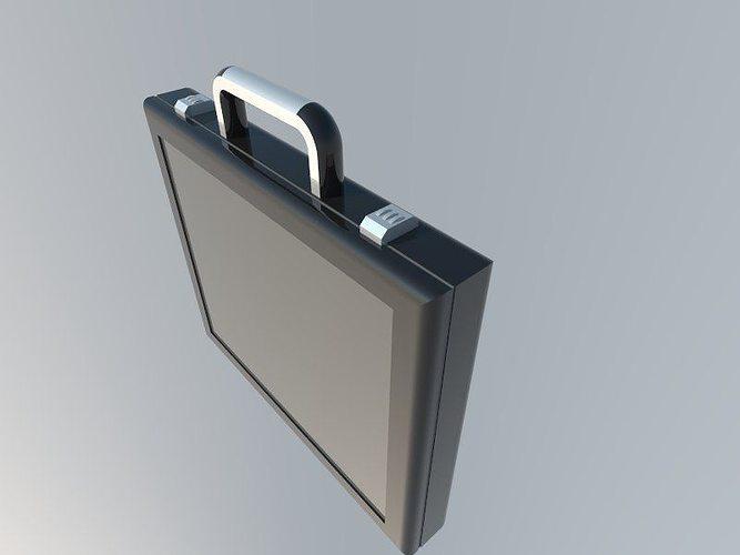 briefcase  3d model low-poly obj mtl 3ds fbx 1