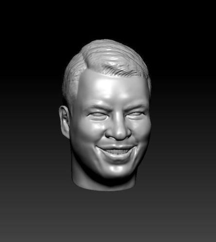 male head 25 3d model obj mtl stl 1