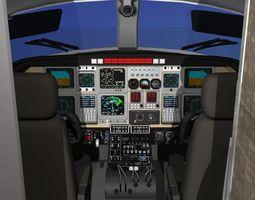 3D animated Beechcraft Starship 2000 T02
