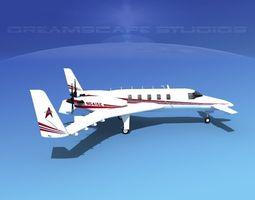 Beechcraft Starship 2000 T06 3D Model