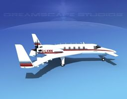 Beechcraft Starship 2000 T09 3D Model
