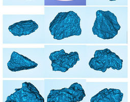 Asteroids set 3D print model