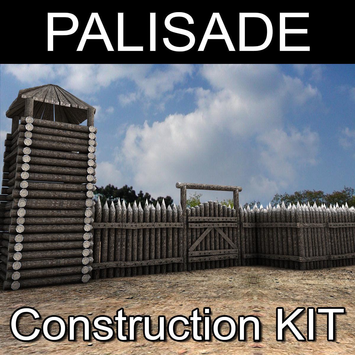 Lowpoly Palisade Construction kit