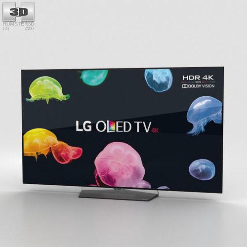 lg 55 oled tv b6 oled55b6v 3d model max obj mtl 3ds fbx c4d lwo lw lws 1