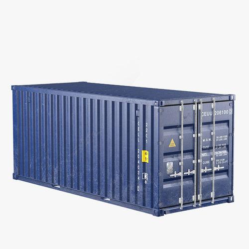 container 20ft blue 3d model max obj mtl fbx mat 1