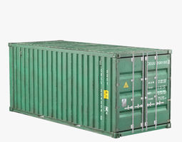Container 20ft Green 3D model