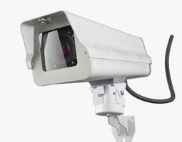 3D model game-ready Security Camera
