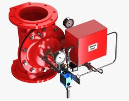 3d electric controlled valve