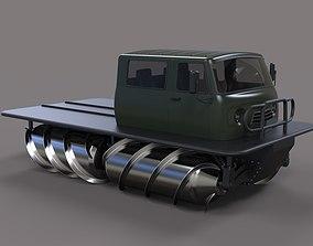 Screw terrain vehicle 3D