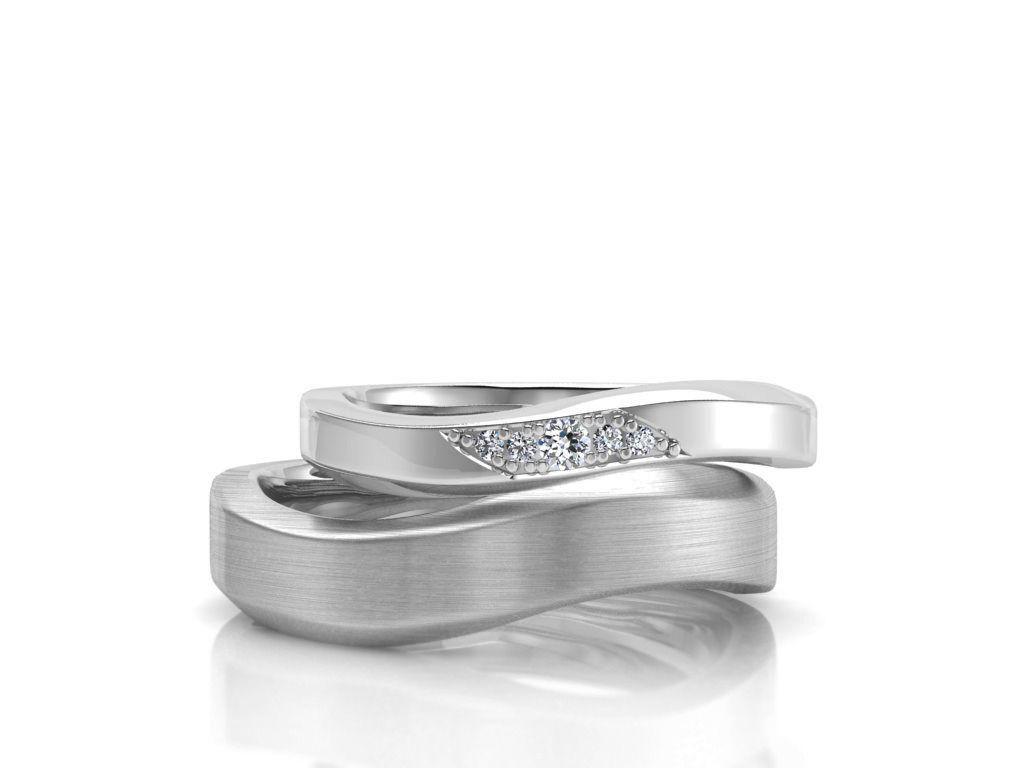 Couple ring 001 cad file 3D model 3D printable STL 3DM