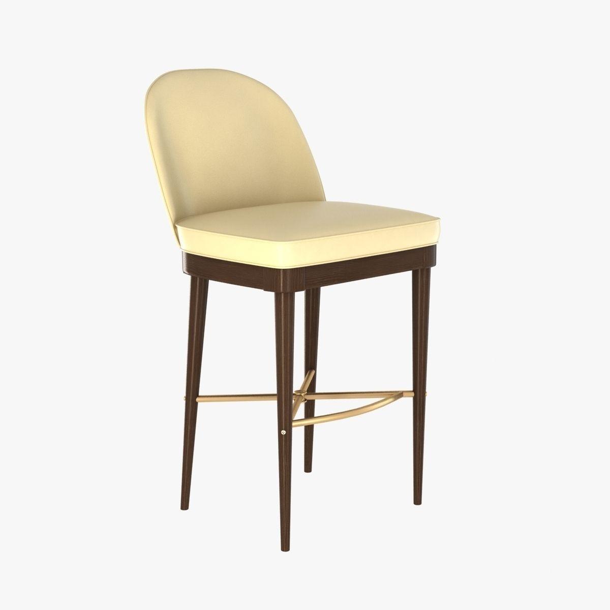 Astounding Laurent Bar Stool By Hickory Chair Furniture 3D Model Alphanode Cool Chair Designs And Ideas Alphanodeonline