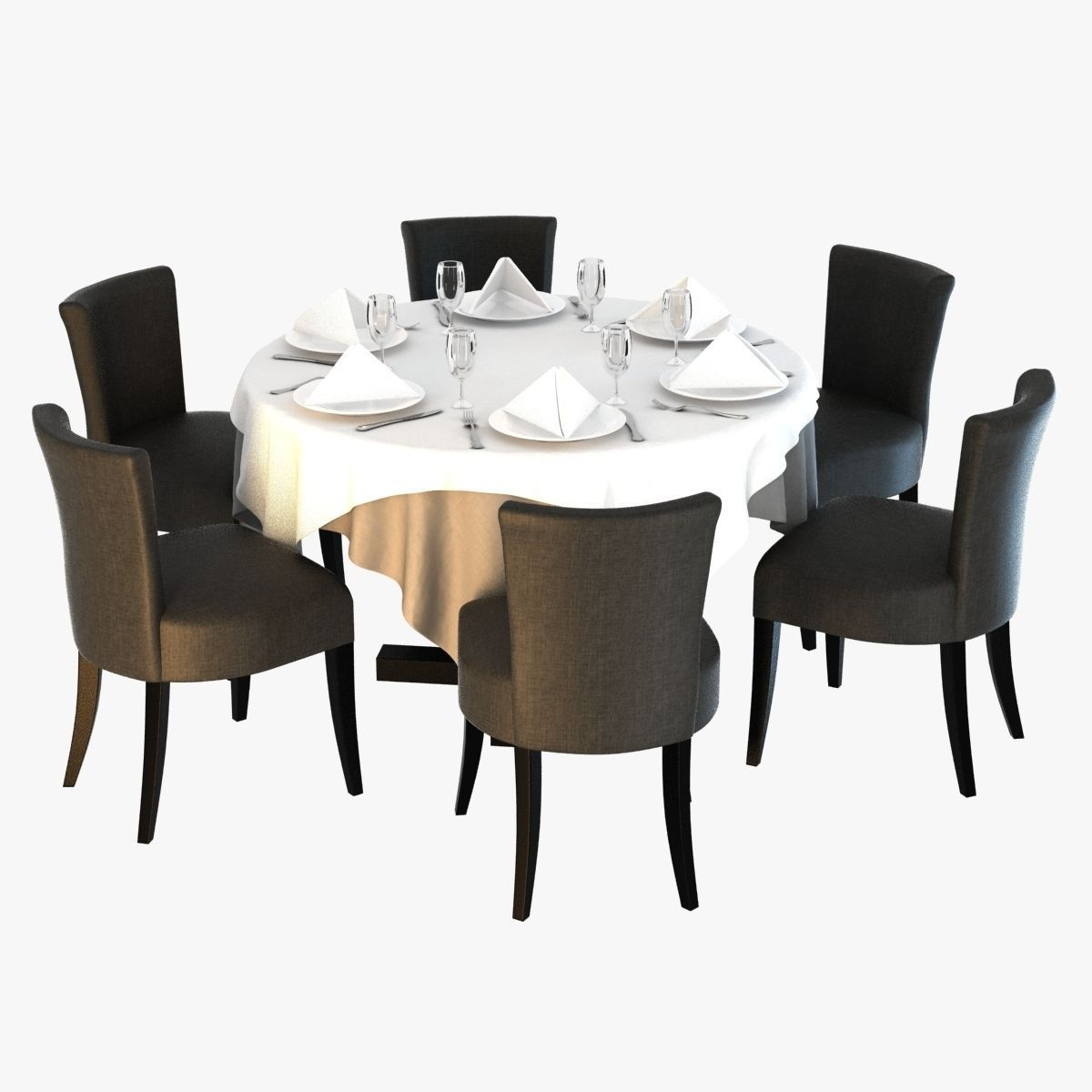 atlantic dining chair 3d model max obj 3ds fbx