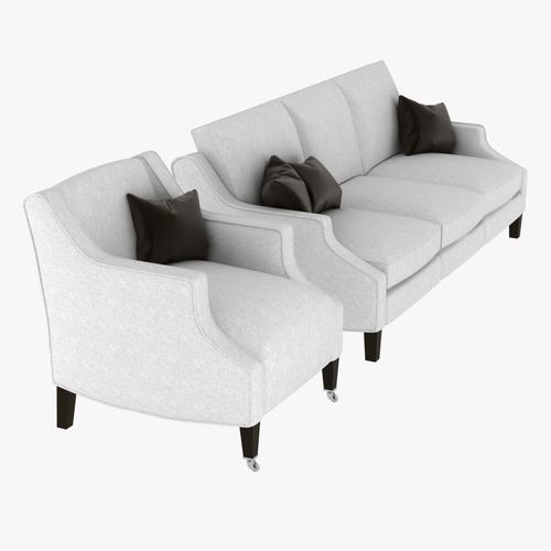 robert langford alice sofa and armchair3D model