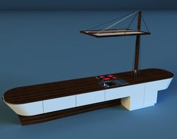 ship kitchen 3D model