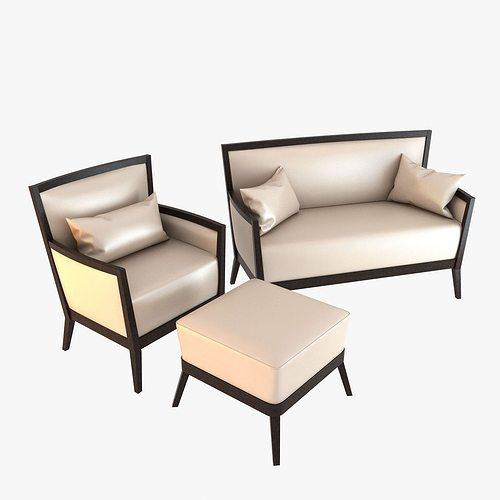 veneta sedie armchair and sofa 3d model max obj mtl 3ds fbx 1