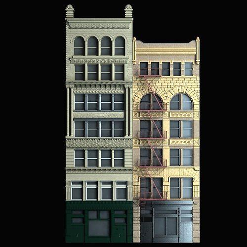 Exceptional ... Building Facade 3d Model Max Obj Fbx Mtl 9 ...