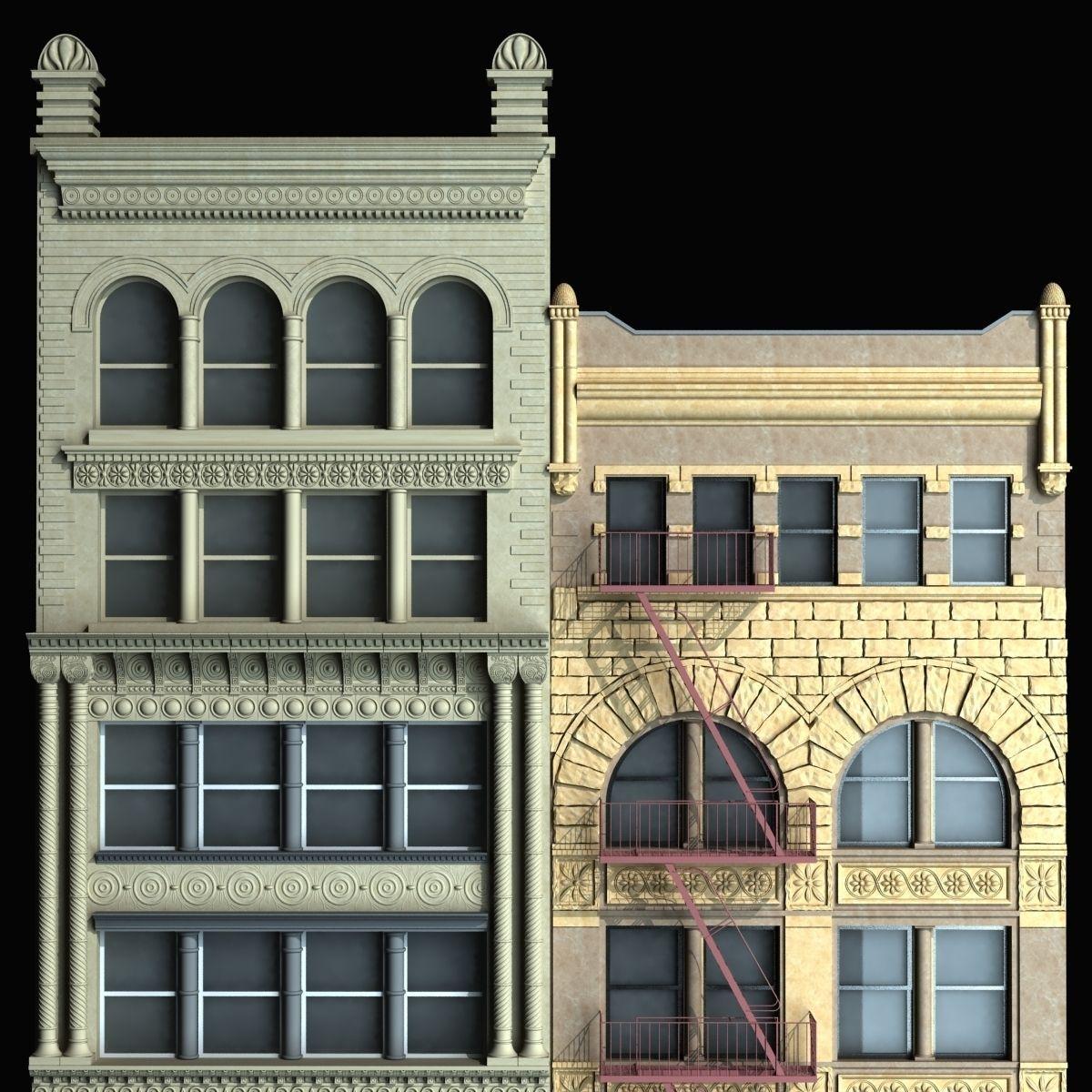 Lovely ... Building Facade 3d Model Max Obj Fbx Mtl 8 ...