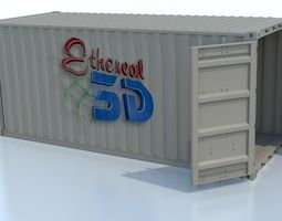 industrial shipping container animated 3d model
