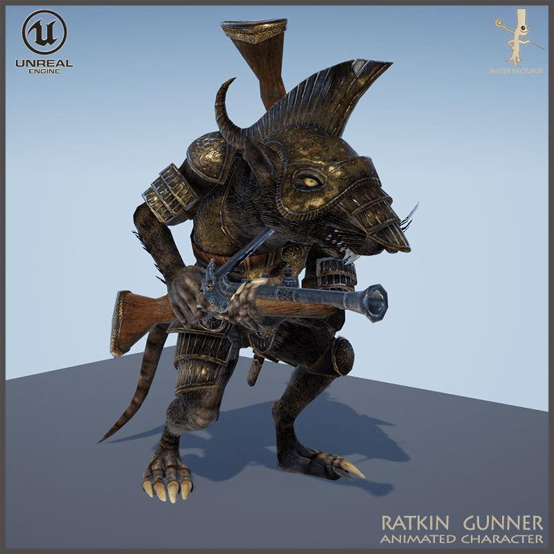 Ratkin Armored Gunner Light Version
