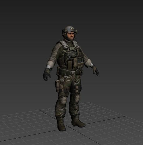 modern usa soldier 3d model stl 1