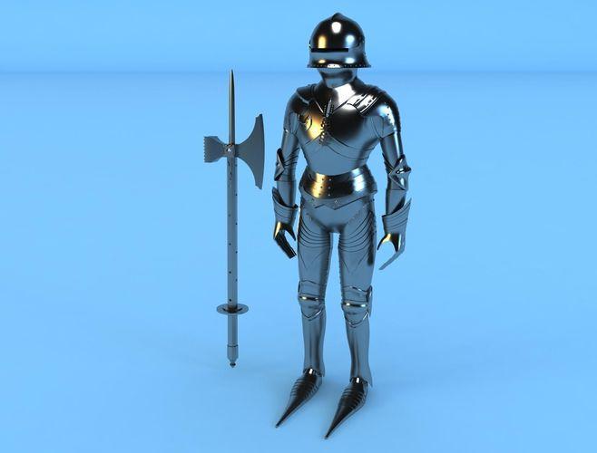 knight armor3D model