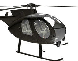 3D model MD MH-6 Little Bird