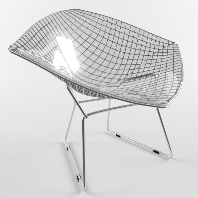 Admirable Diamond Chair Harry Bertoia Knoll Studio 3D Model Alphanode Cool Chair Designs And Ideas Alphanodeonline