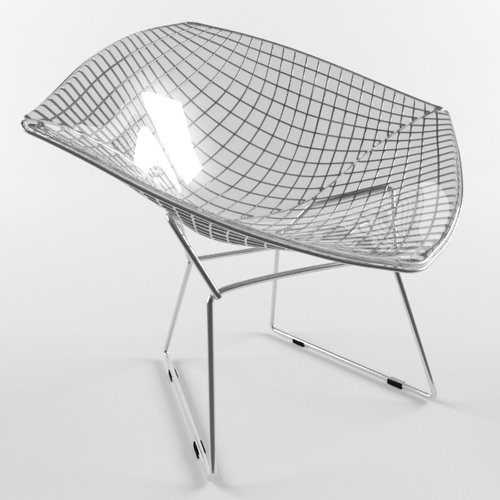 3d model diamond chair harry bertoia knoll studio vr ar. Black Bedroom Furniture Sets. Home Design Ideas