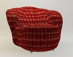3D printable model chair armchair