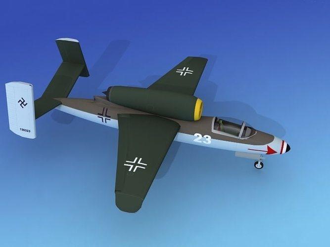 heinkel he 162 volksjaeger v01 3d model animated max obj 3ds lwo lw lws dxf 3dm 1