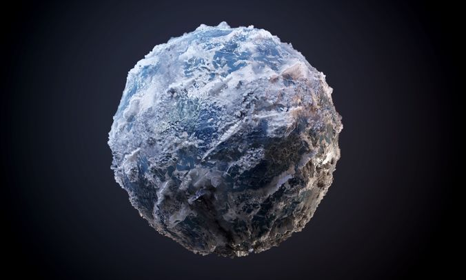 glacier ice snow seamless pbr texture 3d model obj mtl 1