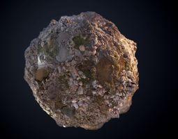 3D model Muddy Swamp Sticks Rock Seamless PBR Texture