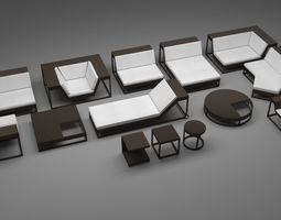 3D model Dedon Outdoor Furniture Set