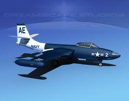 McDonnell F2H2 Banshee V05 3D Model