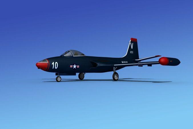 McDonnell F2H4 Banshee V023D model