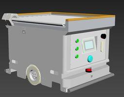 AGV carriage car of belt roller 3D model