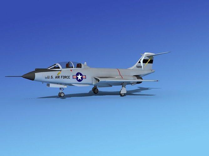 mcdonnell f-101b voodoo v07 3d model max obj mtl 3ds lwo lw lws dxf stl 1